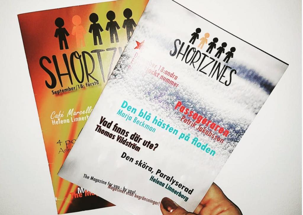 Shortzines, antologier. omslagen.