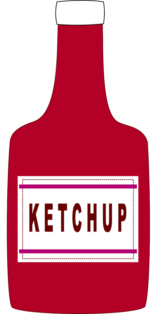 Ketchupflaska tecknad
