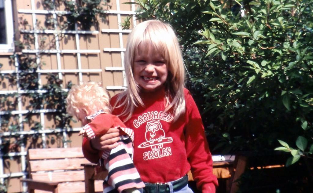 Jag i 7-årsåldern. En glad person har jag alltid varit.