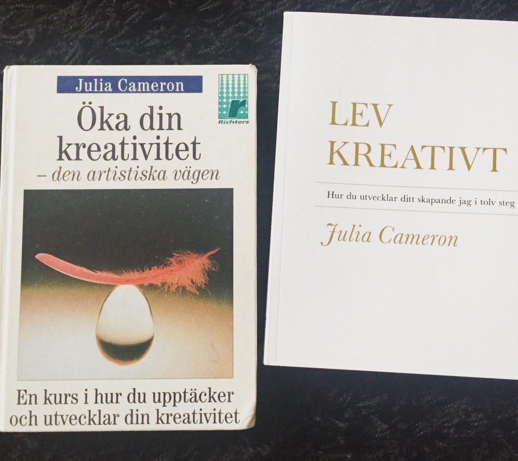 Julia Camerons bok anno 1992 och 2018.